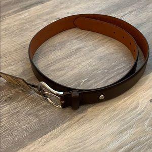 NWT Boconi men's brown leather belt 38